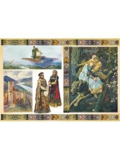 Рисовая бумага для декупажа Русские сказки, 33x48 см, Stamperia DFS163