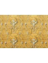 """Рисовая бумага для декупажа Stamperia DFS180 """"Орнамент Rococo"""" золотистый, 33х48 см"""