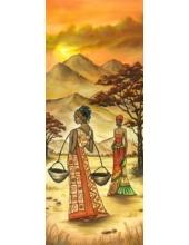 """Рисовая бумага для декупажа Stamperia DFS193L """"Африканские женщины"""", 60x24 см"""