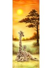 "Рисовая бумага для декупажа Stamperia DFS194L ""Африка, саванна, жирафы"", 60x24 см"