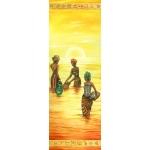 "Рисовая бумага для декупажа Stamperia DFS195L ""Африка, саванна, закат на реке"", 60x24 см"
