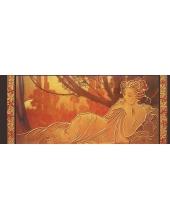 """Рисовая бумага с золотом Stamperia DFS224LG """"Альфонс Муха. Женщина"""", 60x24 см"""