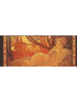 Рисовая бумага с золотом Женщина, Альфонс Муха, 60x24 см, Stamperia
