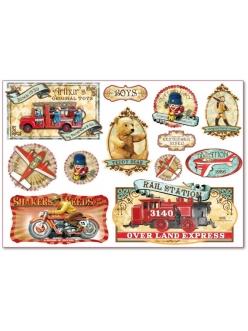"""Рисовая бумага для декупажа Stamperia DFS298 """"Винтажные игрушки"""", 33x48 см, 20г/м2"""