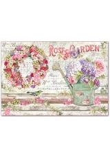 "Рисовая бумага для декупажа Stamperia DFS396 ""Rose Garden"", 33х48 см"