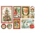 """Рисовая бумага для декупажа Stamperia DFS412 """"Новый год и Рождество"""", 33х48 см"""