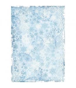 """Рисовая бумага для декупажа Stamperia DFSA3071 """"Снежинки"""", формат А3"""