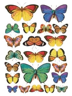Рисовая бумага для декупажа Stamperia DFSA4022 Бабочки, формат А4