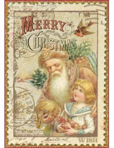 """Рисовая бумага для декупажа Stamperia DFSA4043 """"Веселого Рождества"""", формат А4"""
