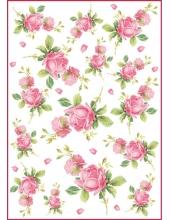 "Рисовая бумага для декупажа Stamperia DFSA4104 ""Розы"", формат А4"