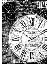"""Рисовая бумага для декупажа Stamperia DFSA4170 """"Часы"""", формат А4"""