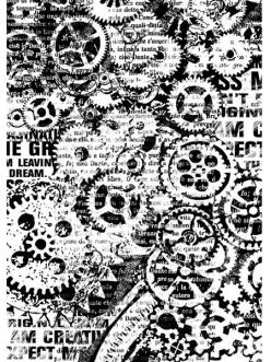Рисовая бумага для декупажа Механизмы, формат А4,  Stamperia DFSA4171