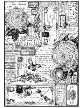 """Рисовая бумага для декупажа Stamperia DFSA4184 """"Розы и бабочки"""", формат А4"""