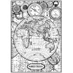 """Рисовая бумага для декупажа Stamperia DFSA4190 """"Карта мира"""", формат А4"""