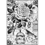 "Рисовая бумага для декупажа Stamperia DFSA4195 ""Роза, птица и клетка"", формат А4"