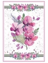 """Рисовая бумага для декупажа Stamperia DFSA4215 """"Акварелельные орхидеи"""", формат А4"""