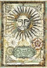 """Рисовая бумага для декупажа Stamperia DFSA4259 """"Солнце"""", формат А4"""