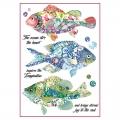 """Рисовая бумага для декупажа Stamperia DFSA4296 """"Рыбы фэнтэзи"""", формат А4"""
