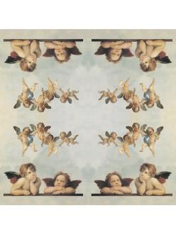 Рисовая салфетка для декупажа Ангелы Рафаэля, Stamperia DFT011, 50х50 см
