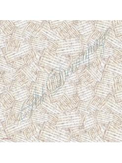 Рисовая салфетка для декупажа Старые ноты, Stamperia DFT079, 50х50 см