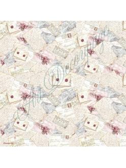 Рисовая салфетка для декупажа Конверты и письма, Stamperia DFT083, 50х50 см