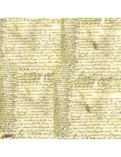 """Рисовая салфетка для декупажа Stamperia DFT105 """"Старинная рукопись"""", 50х50 см"""