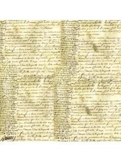 Рисовая салфетка для декупажа Старинная рукопись, Stamperia  DFT105, 50х50 см
