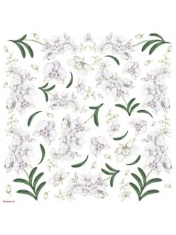 Рисовая салфетка для декупажа Нежные цветы,  Stamperia DFT110, 50х50 см