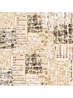 Рисовая салфетка для декупажа Старые ноты, Stamperia DFT179, 50х50 см