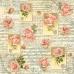 Рисовая салфетка для декупажа Розы, ноты и орнамент, Stamperia, 50х50 см