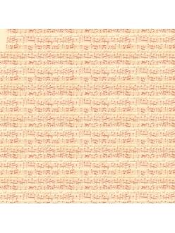 Рисовая салфетка для декупажа Музыка, старые ноты, Stamperia DFT200, 50х50 см