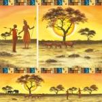 "Рисовая салфетка для декупажа Stamperia DFT201 ""Закат в Масаи"", 50х50 см"