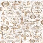 "Рисовая салфетка для декупажа Stamperia DFT206 ""Париж, Эйфелева башня"", 50х50 см"