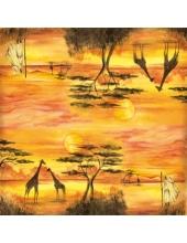 """Рисовая салфетка для декупажа Stamperia DFT214 """"Африка"""", 50х50 см"""