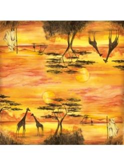 Рисовая салфетка для декупажа Африка Stamperia DFT214, 50х50 см