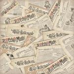 "Рисовая салфетка для декупажа Stamperia DFT247 ""Старые газеты"", 50х50 см"