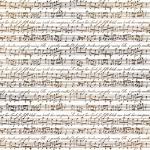 "Рисовая салфетка для декупажа Stamperia DFT248 ""Музыка, ноты"", 50х50 см"