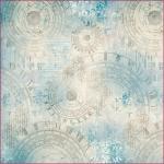 """Рисовая салфетка для декупажа Stamperia DFT263 """"Часы, орнамент"""", 50х50 см, 14 г/м2"""