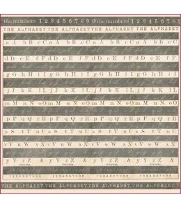 """Рисовая салфетка для декупажа Stamperia DFT264 """"Алфавит"""", 50х50 см"""