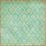 "Рисовая салфетка для декупажа Stamperia DFT276 ""Бирюзовый орнамент"", 50х50 см, 14 г/м2"