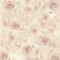 "Рисовая салфетка для декупажа Stamperia DFT284 ""Розы шебби и письма"", 50х50 см, 14 г/м2"