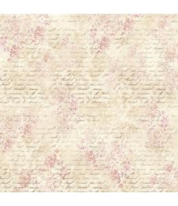 """Рисовая салфетка для декупажа Stamperia DFT285 """"Розовые лютики и письма"""", 50х50 см"""