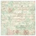 """Рисовая салфетка для декупажа Stamperia DFT330 """"Музыка, розы и птицы"""", 50х50 см"""