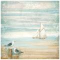 "Рисовая салфетка для декупажа ""Море, чайка"", 50х50 см, Stamperia DFT334"