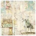 """Рисовая салфетка для декупажа """"Волшебная страна, Единорог"""", 50х50 см, Stamperia DFT336"""