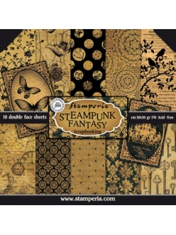 "Набор бумаги для скрапбукинга ""Steampunk fantasy"", 10 листов, 30,5 х 30,5 см, Stamperia"