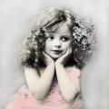 """Салфетка для декупажа SVD2057 """"Девочка в розовом"""", 33х33 см, Sagen Vintage Design, Норвегия"""