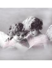 """Салфетка для декупажа SVD2061 """"Ангелы в розовом"""", 33х33 см, Sagen Vintage Design, Норвегия"""