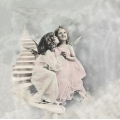 """Салфетка для декупажа SVD2064 """"Счастливые ангелочки"""", 33х33 см, Sagen Vintage Design, Норвегия"""