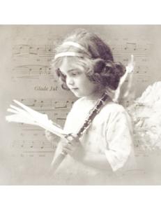 "Салфетка для декупажа SVD2068 ""Ангел с флейтой"", 33х33 см, Sagen Vintage Design, Норвегия"